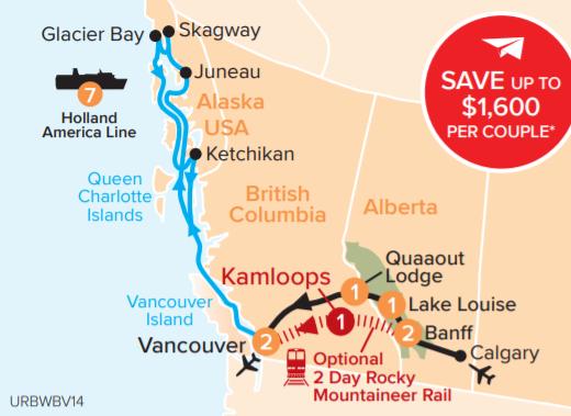 Rockies Marvel & Alaska Cruise